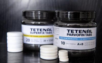 Tetenal announce Parvofin developer and Superfix fixer in tablet form